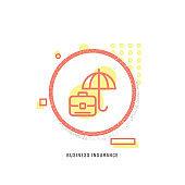 BUSINESS INSURANCE icon, creative icon, icon unique concept, new generation, modern icon, Network Security, Risk, Business, Insurance services, Service, Bank