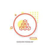 BLOCKCHAIN TECHNOLOGY icon, creative icon, icon unique concept, new generation, modern icon, Blockchain, Technology, Cryptocurrency