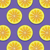 summer background vector, Slices of fresh yellow lemon for summer background concept, lemon slice background