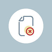 Delete, document, management, optimization, remove, subs tract icon, vector document icon, flat color icon