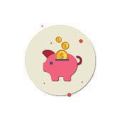 Piggy bank icon vector, Piggy Bank, Coin Bank, Coin, Currency, Gold