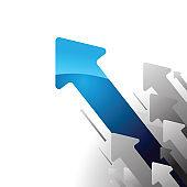 Concept of business movement, Upward arrows, Arrow Symbol, Height Chart, Backgrounds, Tall, High, growth, progress, business profit chart concept, Bar Graph, Chart, Sports Target, Price, Data