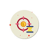 target icon vector, Aim for success, Sports Target, Goal - Sports Equipment, Puzzle, Coin