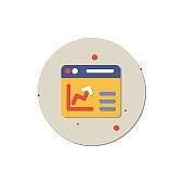 growth arrow vector, Graph, Chart, Pie Chart, Data, Stock Market Data, Graph icon, creative icon vector concept,  trending icon, new generation vector