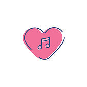 Romantic Music Icon, Valentines Day icon, valentines day background, flat icon, Arts Culture and Entertainment, Computer Graphic, Day, Design