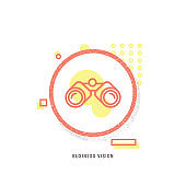 BUSINESS VISION icon, creative icon, icon unique concept, new generation, modern icon, Business, Opportunity, The Way Forward, Binoculars, Looking, Watching, Equipment