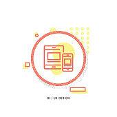 UI UX DESIGN icon, creative icon, icon unique concept, new generation, modern icon, Graphical User Interface, Push Button, Keypad, Internet, Web Page
