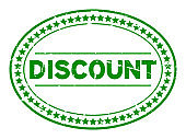 Grunge green discount word oval rubber seal stamp on white background