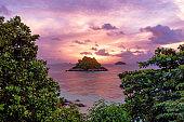 Beautiful sunrise on the tropical island, Koh Lipe, Thailand
