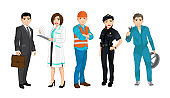 Set of people related to the different professions