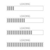 Loading bar icon. Loading bar progress vector icon