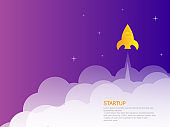 startup landing page rocket launcher