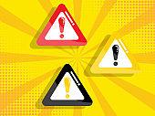 warning, attention sign vector