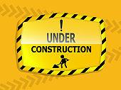 under construction label