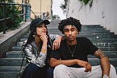 Youth culture street style portrait