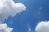 White cloud over clear summer blue sky