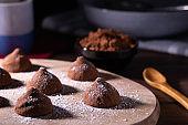 homemade chocolat truffles