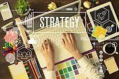 Business strategy concept - Strategy