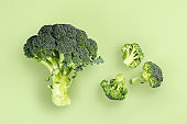 Minimalistic image of broccoli