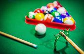 Playing billiard