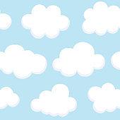 Cloud Cute Seamless Pattern