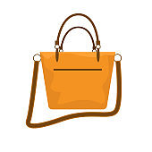 Modern and trendy Women bag icon. Vector illustration.