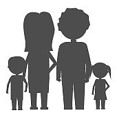 Family Icon in flat style isolated. Parents and children symbol Vector illustration.
