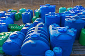Plastic tanks for water and chemical liquids