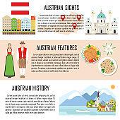 Austria banner set with austrian sights
