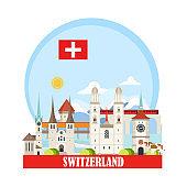 Switzerland Travel Landmarks background