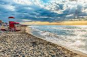 Scenic beach on the thyrrenian coastline in central Italy