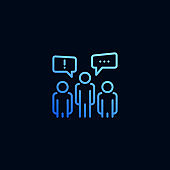 Business people group chat line icon. Vector illustration in linear style.