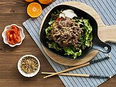 Korean traditional food beef bulgogi