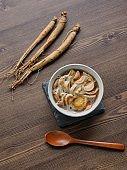 Korean food Pickled ginseng honey
