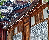 Bukchon Hanok Village, Seoul, Korea, Traditional Korean house