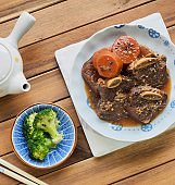 Korean food Braised Short Ribs, Beef rib steak