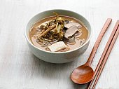 Korean food Shepherd's purse Soybean Paste Soup