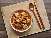 Korean Food Braised Spicy Chicken