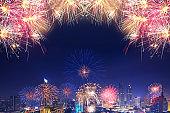 Firework display in Bangkok