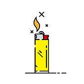 Cigarette lighter line icon