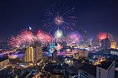 Loy Kratong Festival in Bangkok city