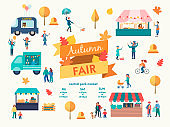 Fall Holiday Season recreation and public event Conept Vector illustration