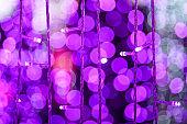 purple, pink light bokeh circle christmas decoration led bulbs