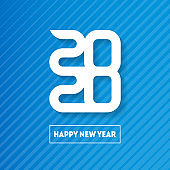Happy New Year 2020. Cover of business diary for 20 20. Vector greeting card with halftone gradient. Brochure design template.
