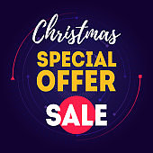 Christmas Sale. Special Offer. Banner or poster for store. Shopping discount.