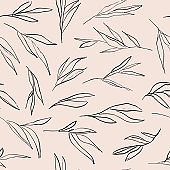 Abstract leaves pattern.
