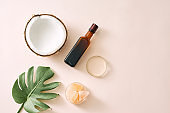 cosmetic nature skincare and essential oil aromatherapy .organic natural science beauty product .herbal alternative medicine . mock up.