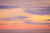 Sea and dramatic sky sunset background
