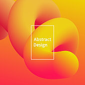 Abstract fluid shape background vector design. Trendy modern futuristic illustration.