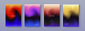 Set of modern colorful gradient background. Trendy abstract poster liquid design.  A4 size fluid backdrop illustrations for brochure, banner, print, flayer, card, placard.
